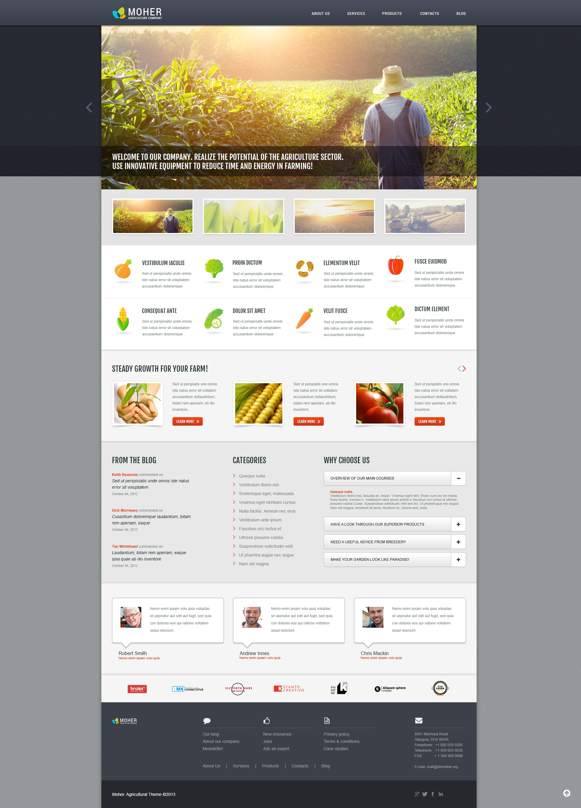 Agriculture Business WordPress Theme - screenshot