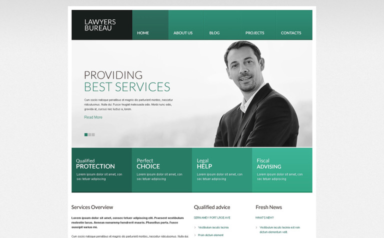 Ascetic Law Drupal Template