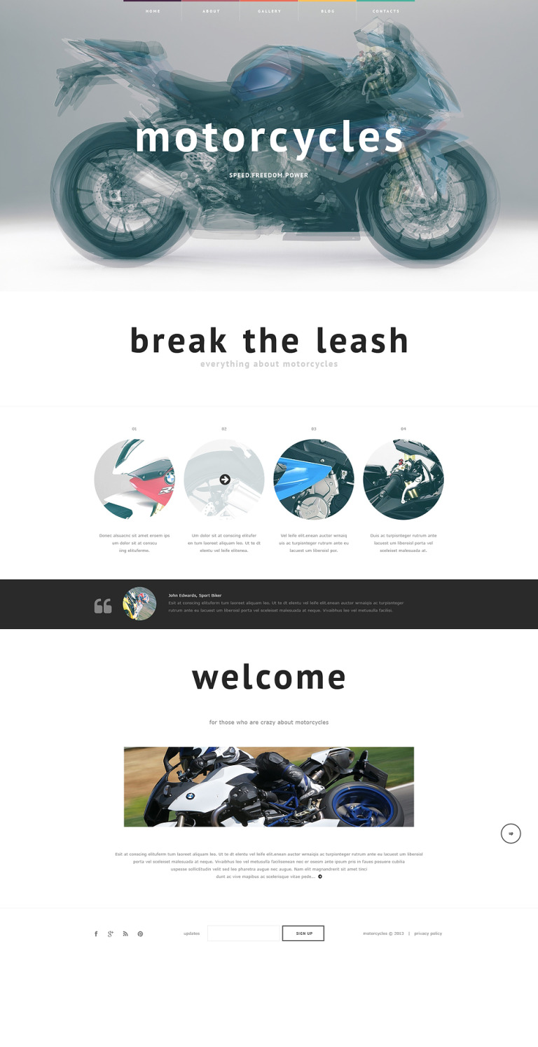 Biker Club Responsive Website Template New Screenshots BIG
