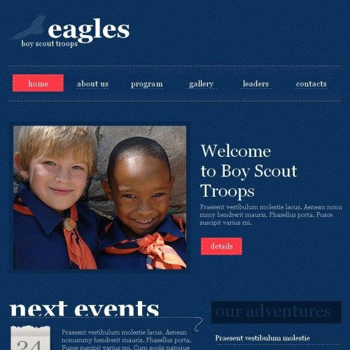 Eagles - Facebook HTML CMS Template