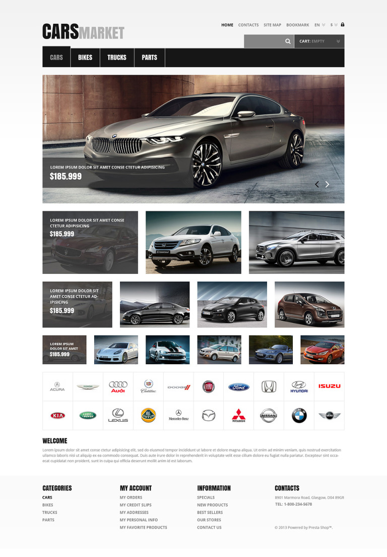 Cars and Parts PrestaShop Theme New Screenshots BIG
