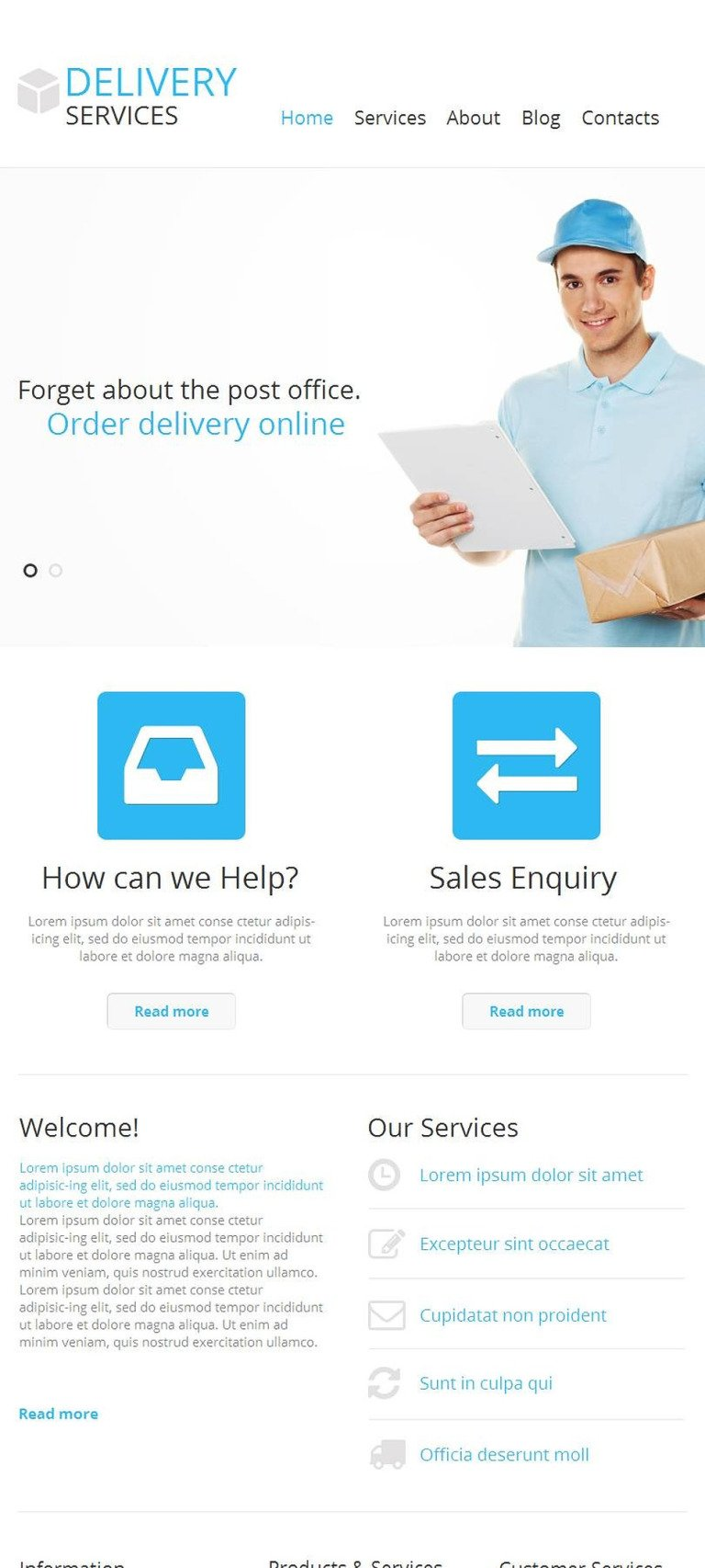 Delivery Services Facebook HTML CMS Template New Screenshots BIG