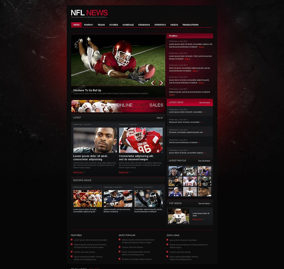 Football Moto CMS HTML Template New Screenshots BIG