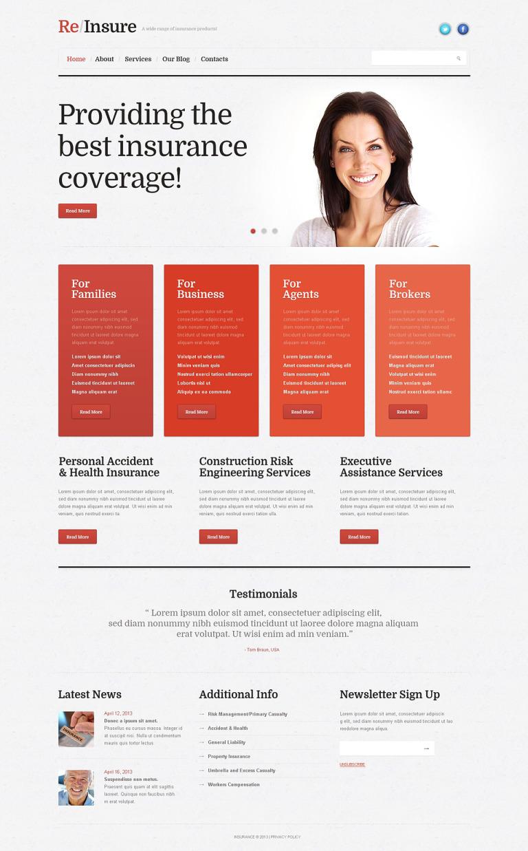 Insurance Business WordPress Theme New Screenshots BIG