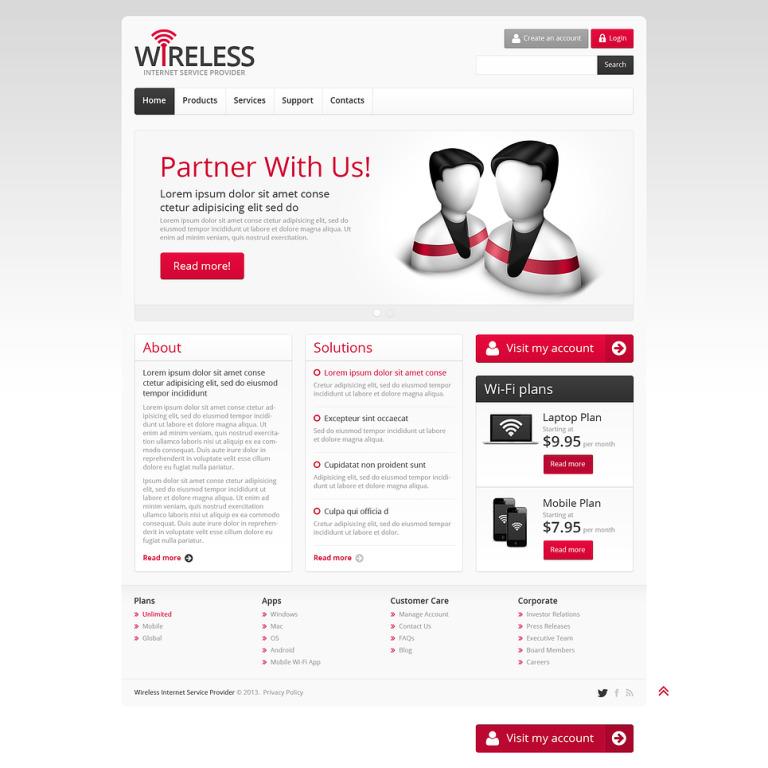 Internet Responsive Website Template New Screenshots BIG