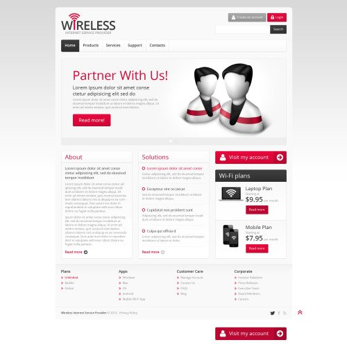 Wireless - Website Template based on Bootstrap