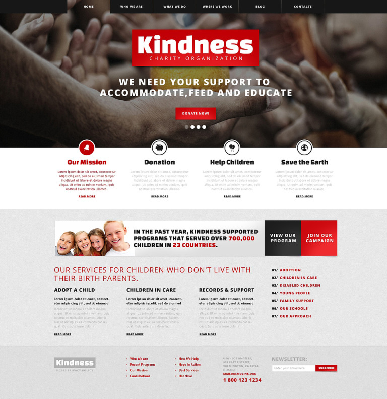 Kind Children Charity WordPress Theme New Screenshots BIG