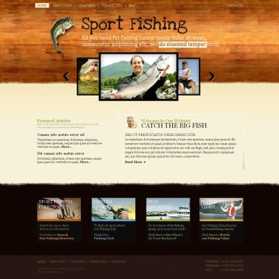 Fishing Moto CMS HTML šablona