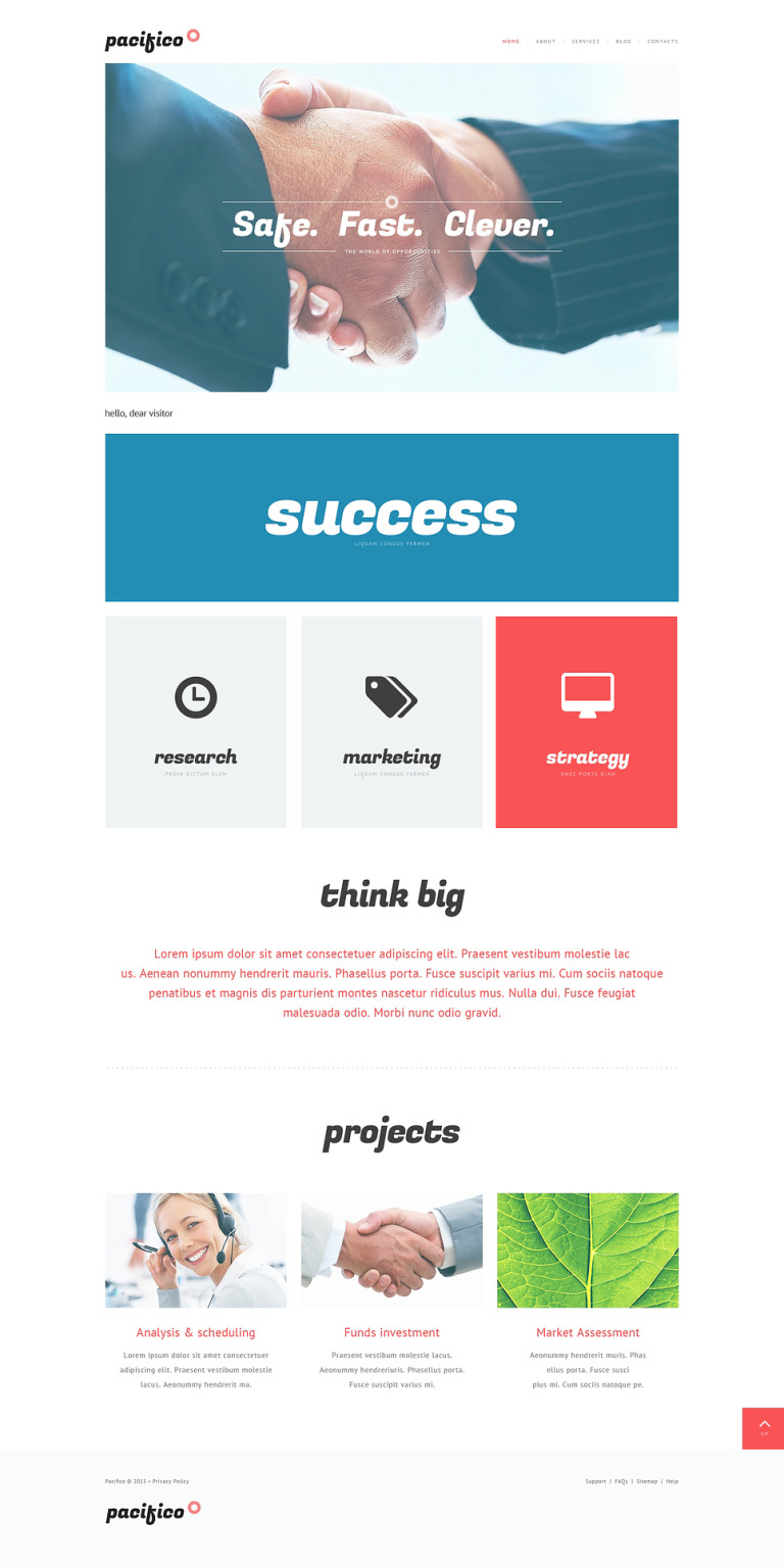 Marketing Agency Responsive Website Template New Screenshots BIG