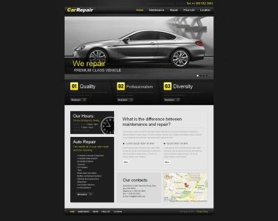 Plantilla Moto CMS HTML #45773 para Sitio de  para Sitio de Reparación de coches