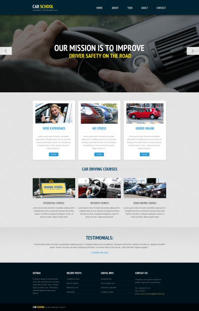 Responsive Plantilla Web #45729 para Sitio de  para Sitio de Escuelas de conducir