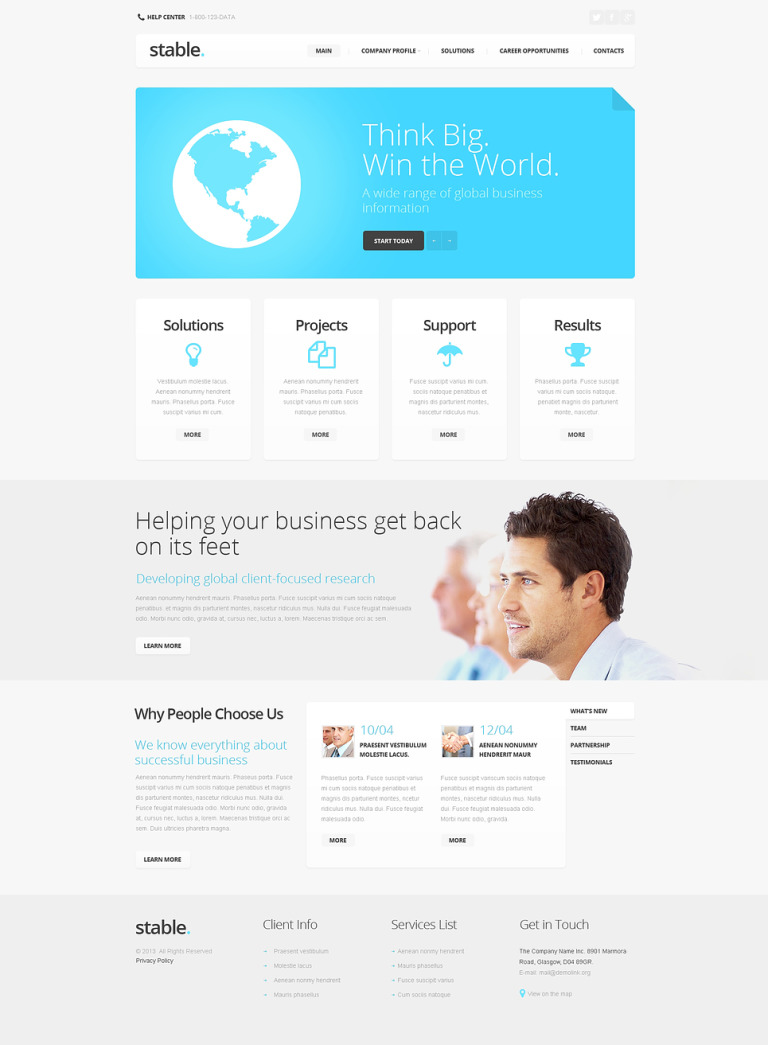 Public Relations Responsive Website Template New Screenshots BIG