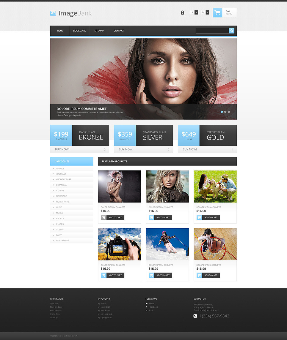 Quality Images PrestaShop Theme New Screenshots BIG