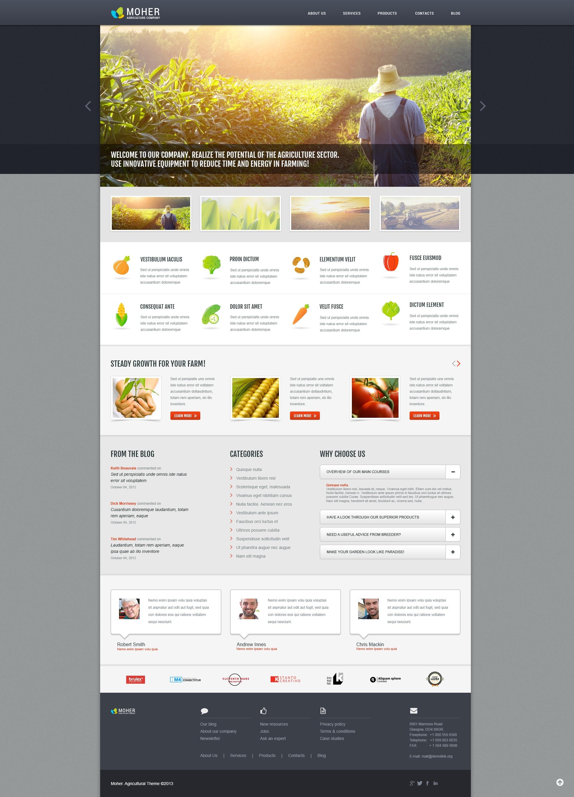Responsive Agriculture Business Wordpress #45717 - Ekran resmi