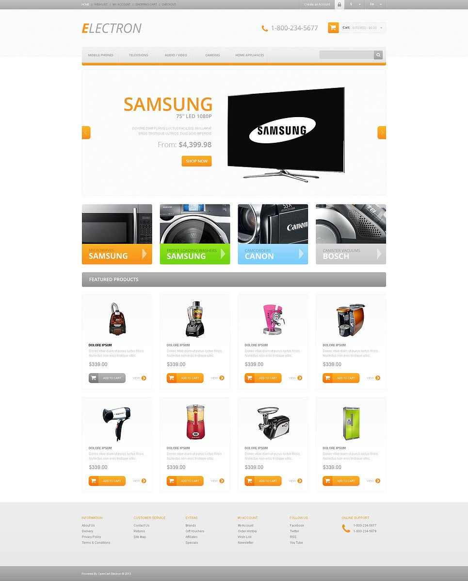 Responsive Electronics Store OpenCart Template New Screenshots BIG