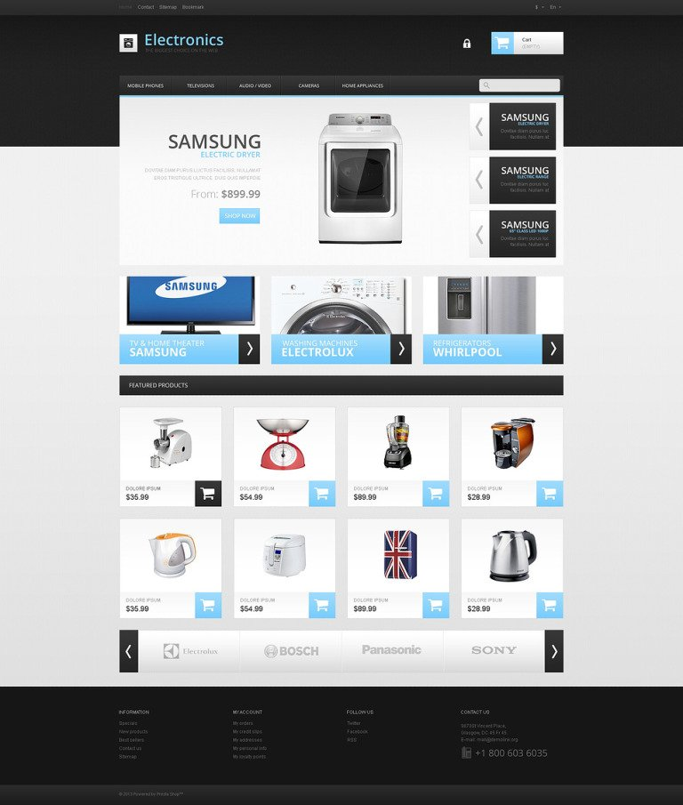 Responsive Electronics Store PrestaShop Theme New Screenshots BIG