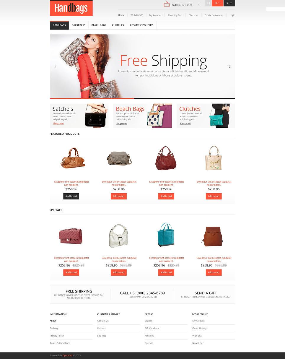 Responsive Handbags Store OpenCart Template New Screenshots BIG