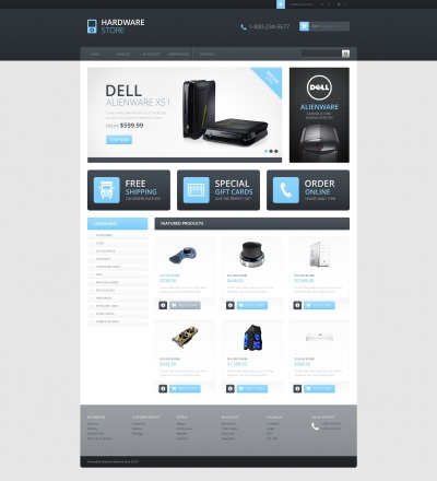 Responsive Hardware Store OpenCart Template