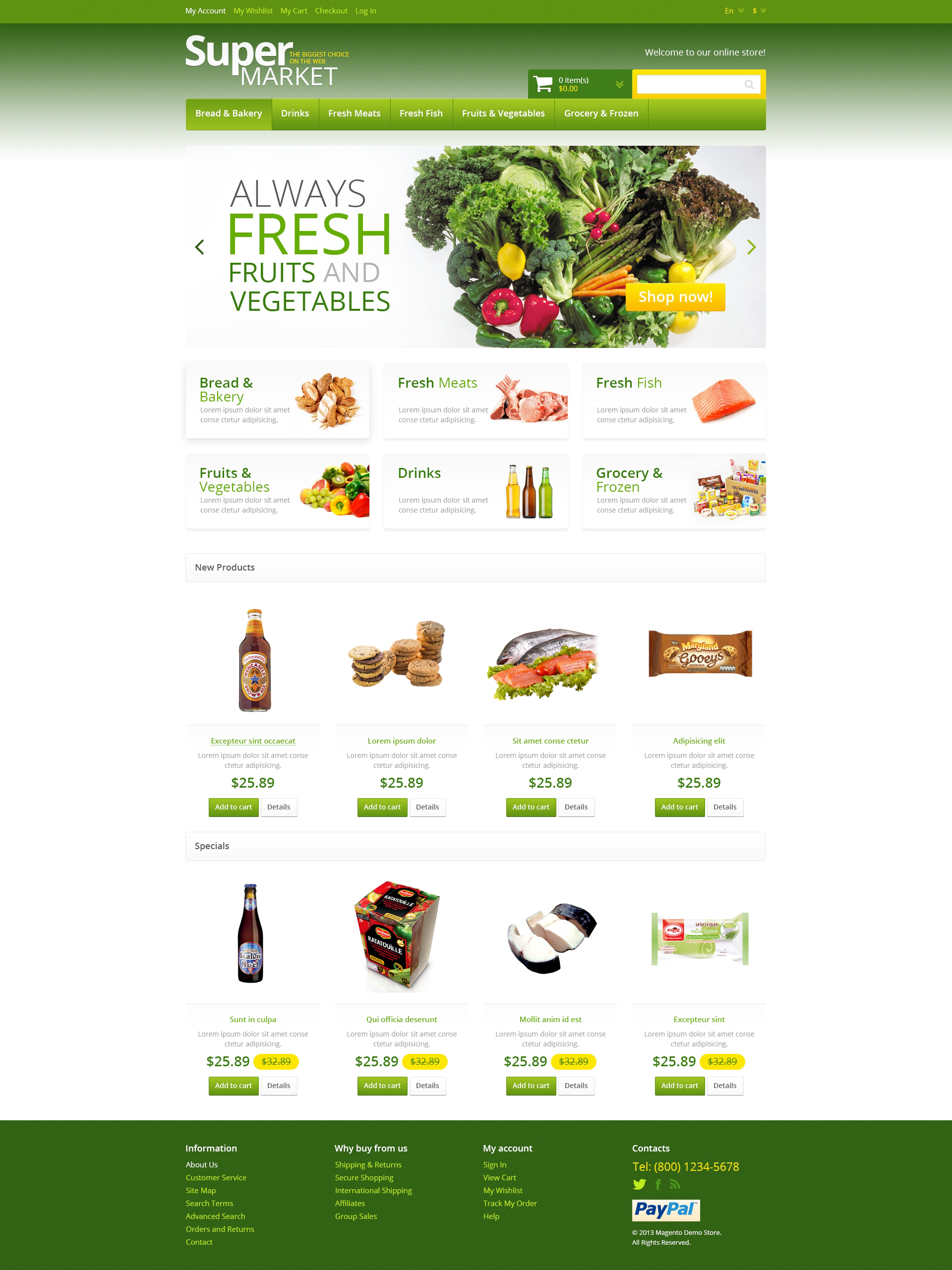 Food Ordering Website Design