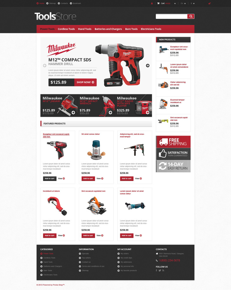 Responsive Tools Store PrestaShop Theme New Screenshots BIG