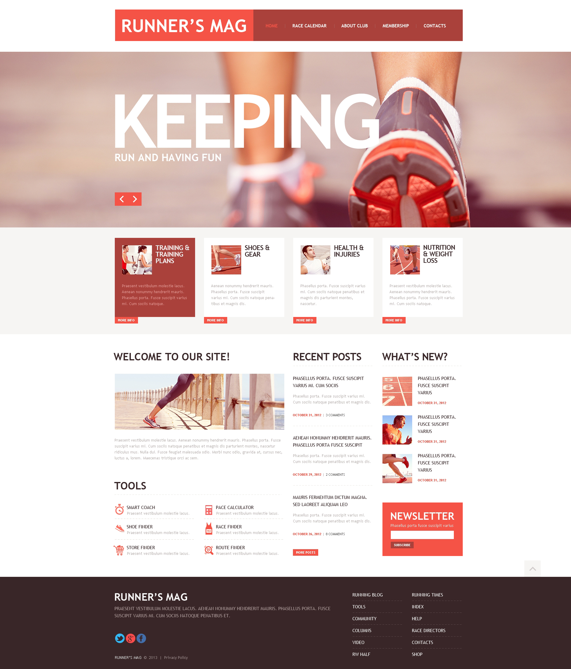 Responsive Website template over Hardlopen №45760