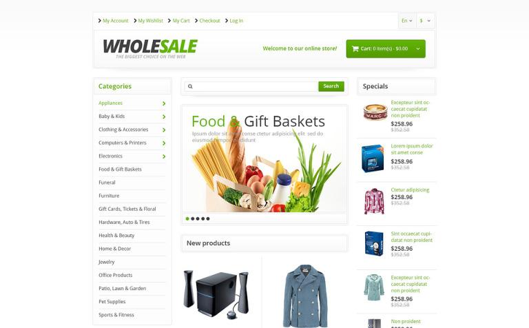 Responsive Wholesale Store Magento Theme #45714