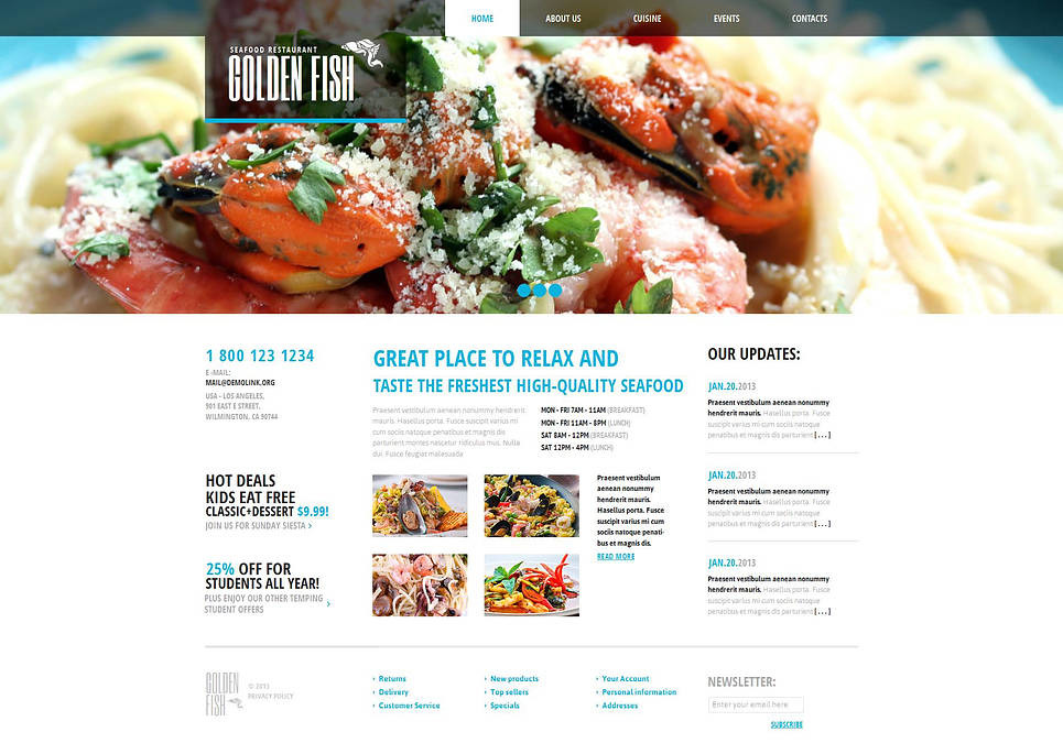 Seafood Restaurant Moto CMS HTML Template New Screenshots BIG