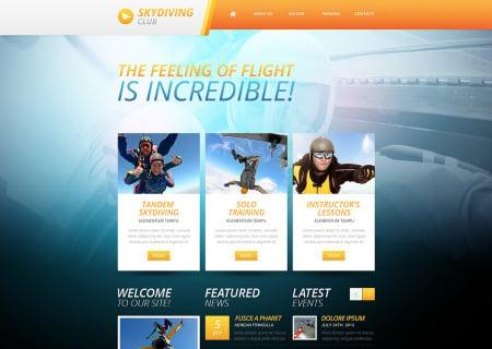 Skydiving Responsive