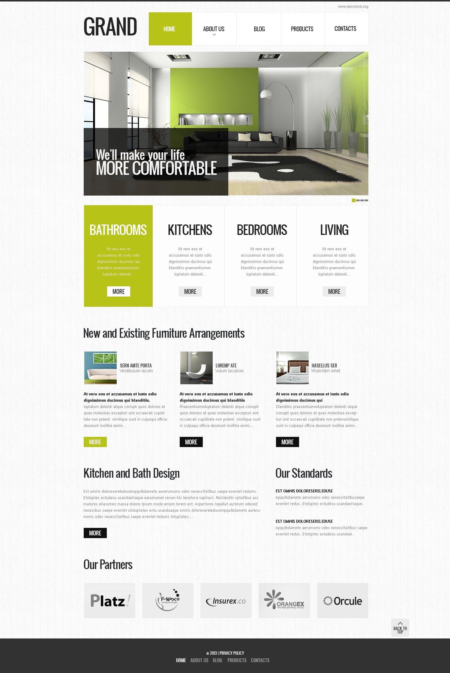 "Template Drupal Responsive #45763 ""Special Interior Design"" - screenshot"