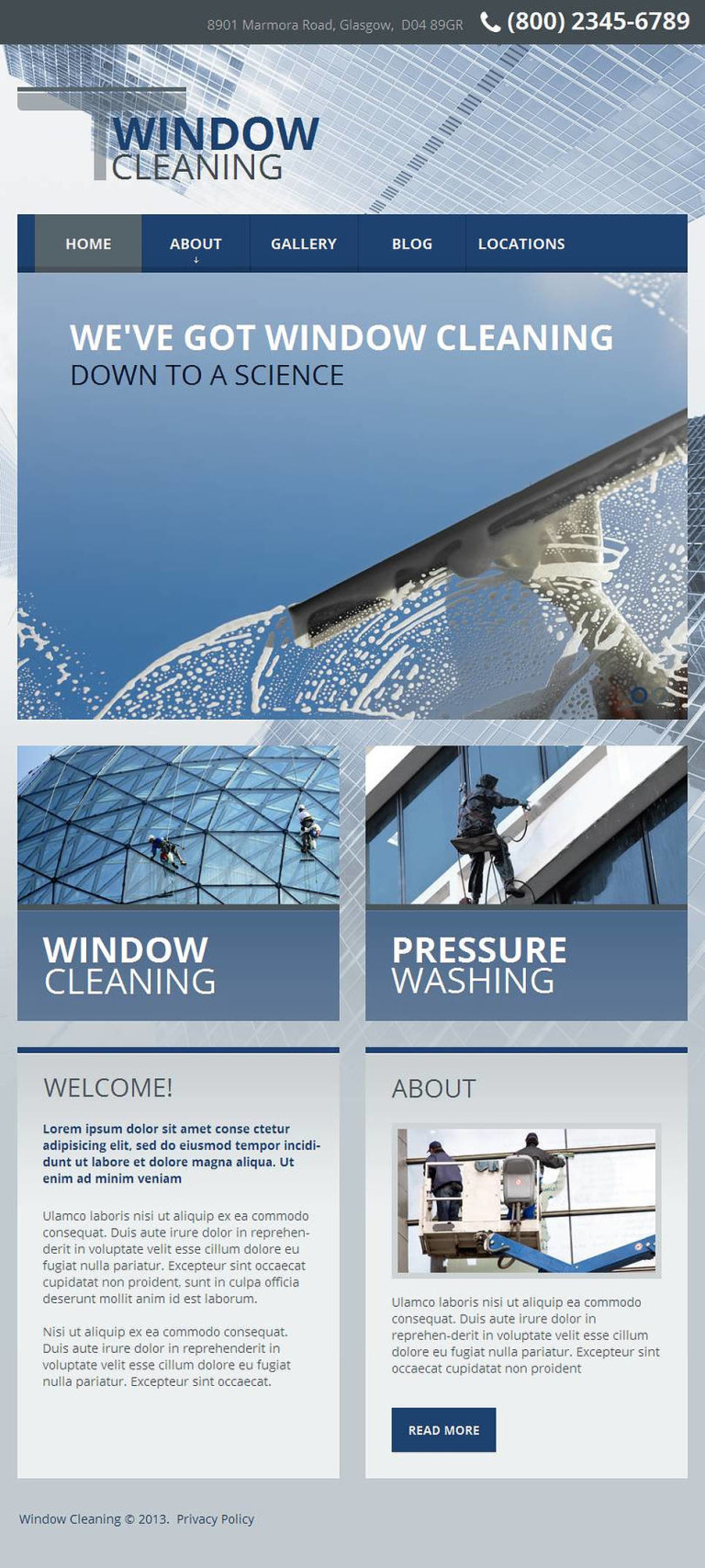 Window Cleaning Facebook HTML CMS Template New Screenshots BIG