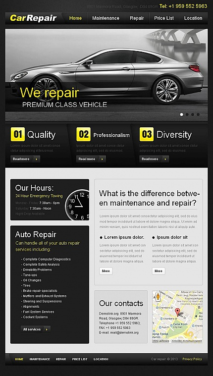 ADOBE Photoshop Template 45803 Home Page Screenshot
