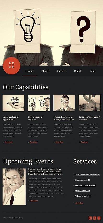 ADOBE Photoshop Template 45808 Home Page Screenshot