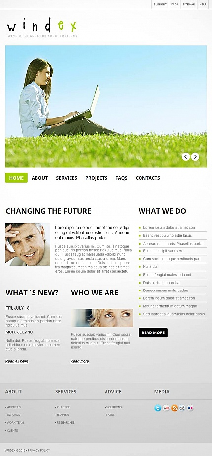 ADOBE Photoshop Template 45812 Home Page Screenshot