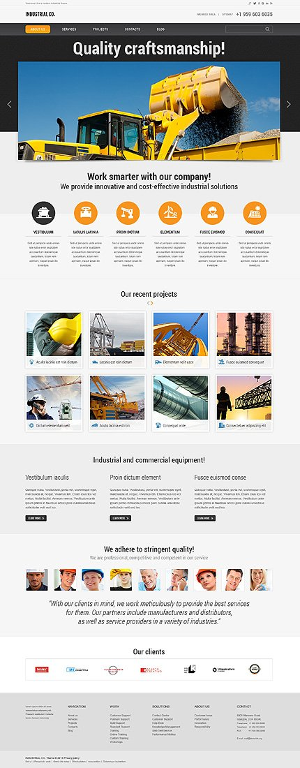WordPress Theme/Template 45825 Main Page Screenshot