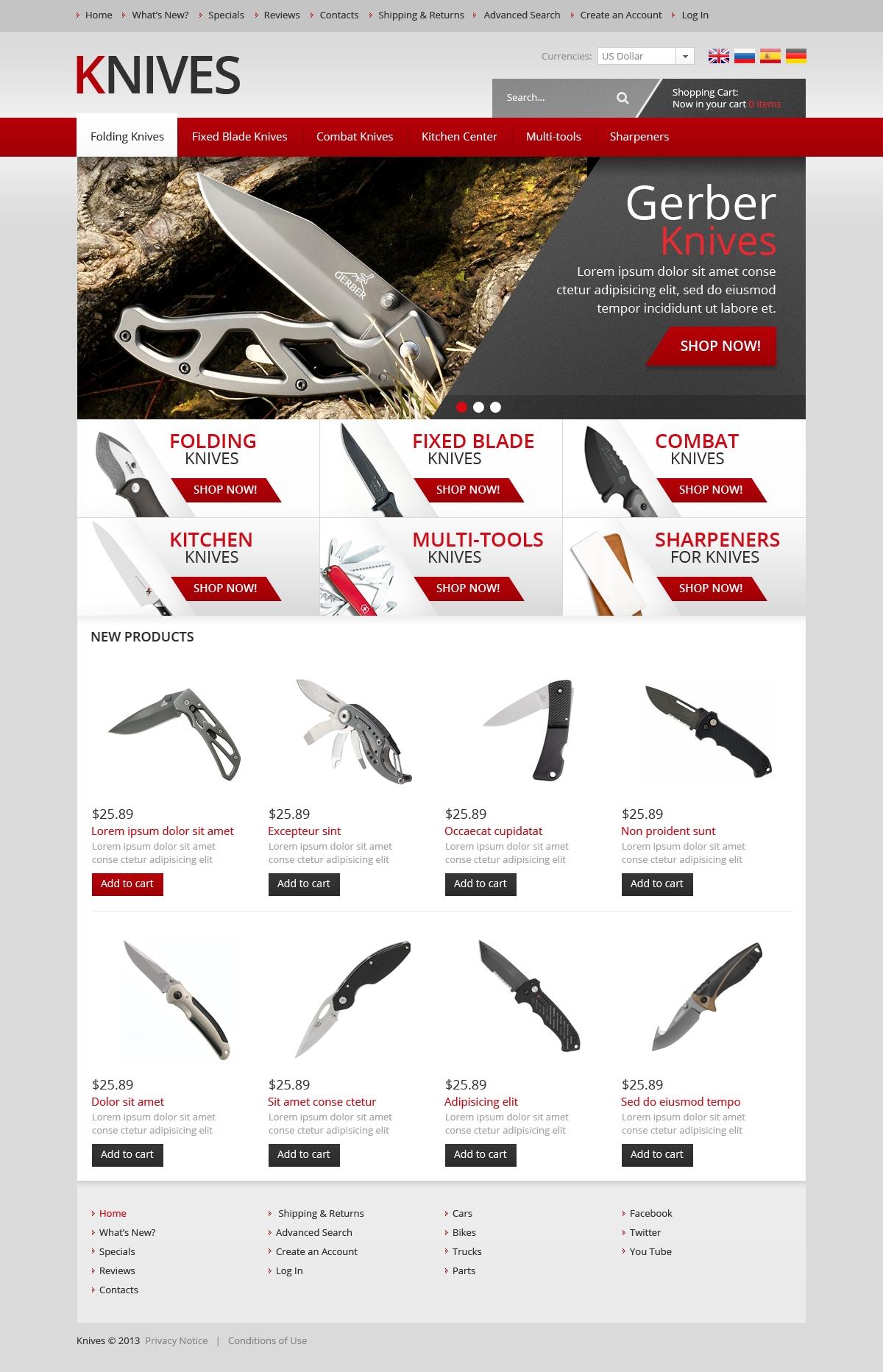 Modello oscommerce per un sito di articoli per la casa for Articoli design per la casa