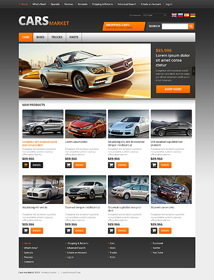 osCommerce Template 45831 Main Page Screenshot