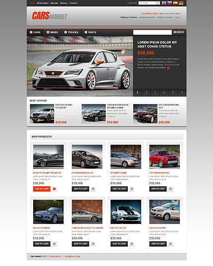 osCommerce Template 45832 Main Page Screenshot