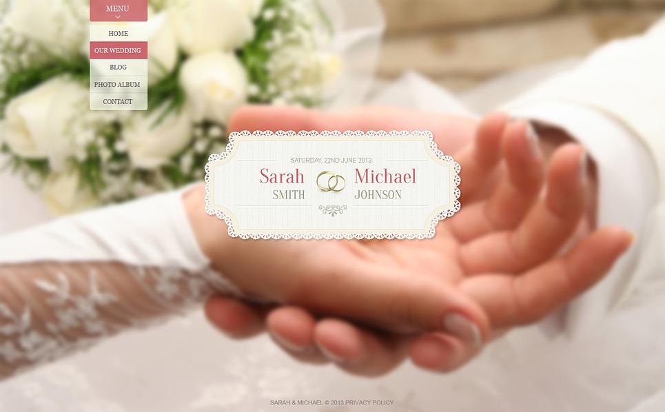 Bootstrap Шаблон сайту на тему весільний альбом New Screenshots BIG