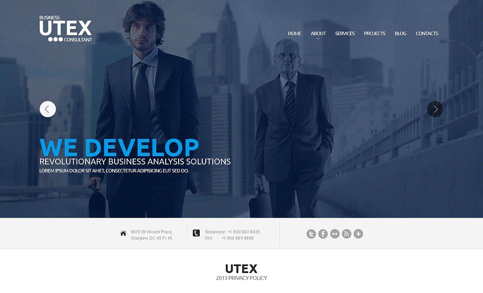 Bootstrap Tanácsadás  Weboldal sablon New Screenshots BIG