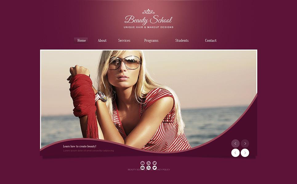 Bootstrap Website template over Schoonheidssalon New Screenshots BIG