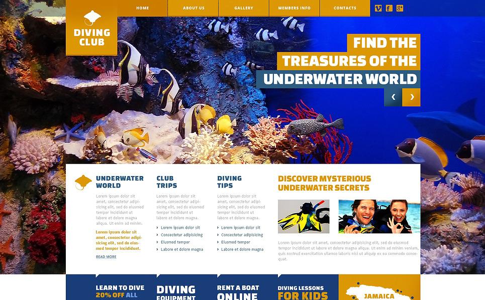 Responsive Dalış  Web Sitesi Şablonu New Screenshots BIG