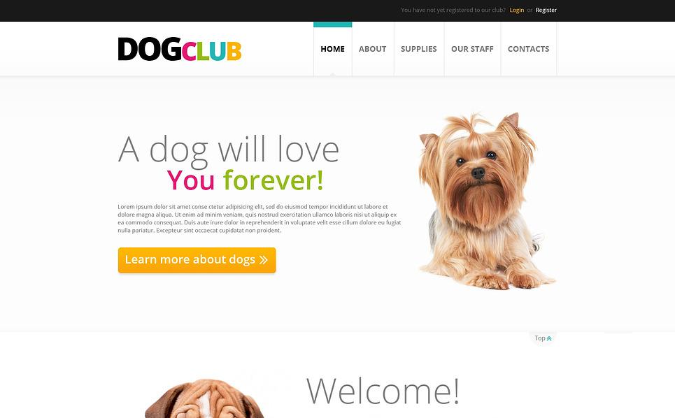 Адаптивный HTML шаблон №45868 на тему собаки New Screenshots BIG