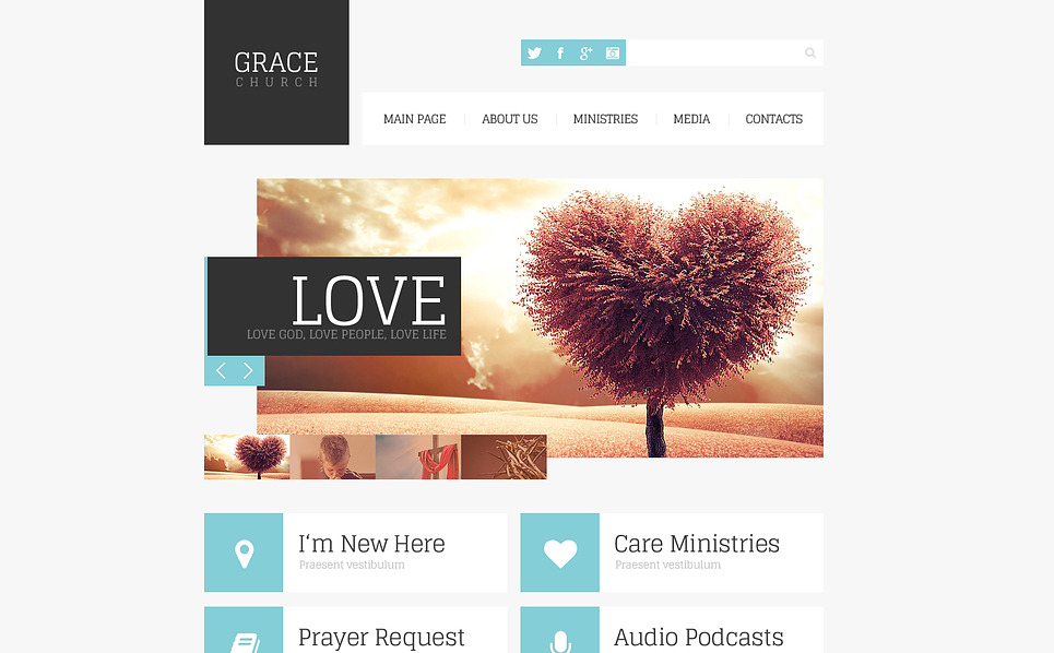 Responsive Website template over Godsdienstige  New Screenshots BIG