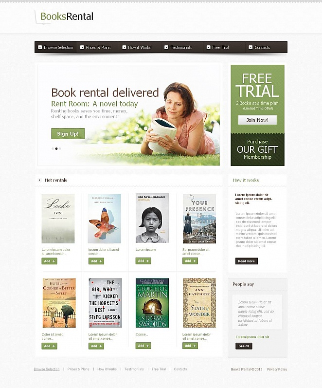 Book Store Website Template with a Content Slider - image