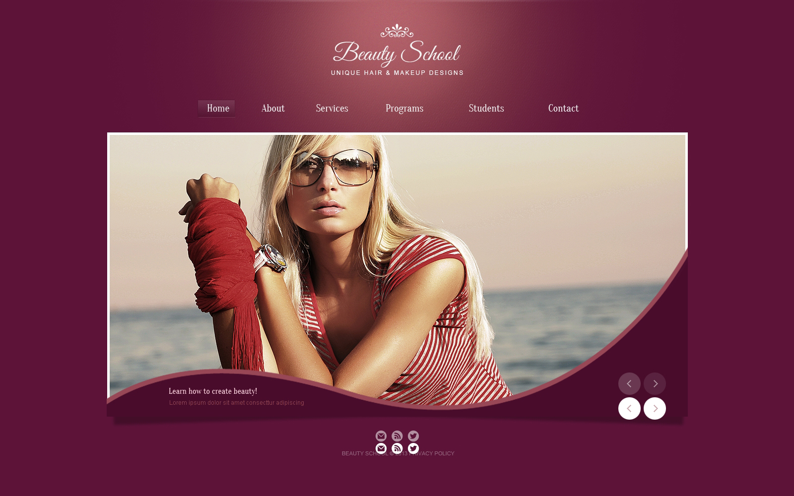 Beauty salon website template 45839 for About beauty salon