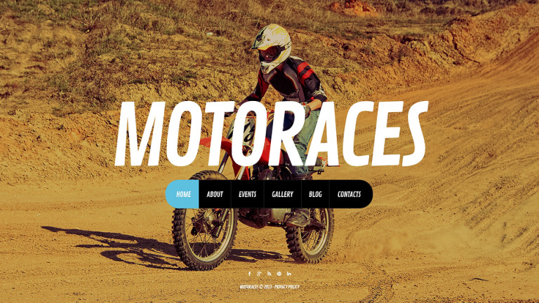 Biker Club Website Template New Screenshots BIG