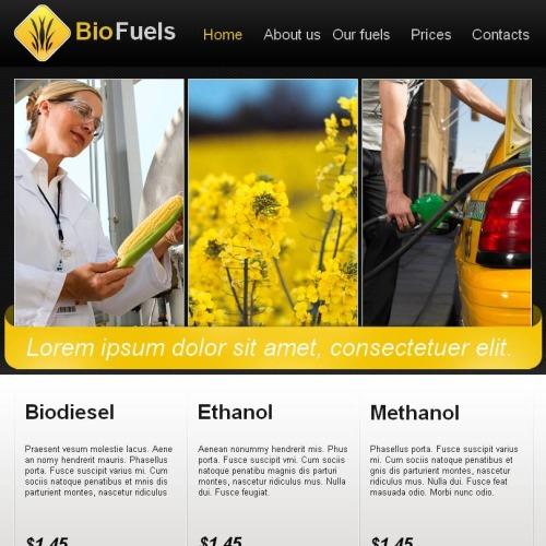 Biofuel - Facebook HTML CMS Template