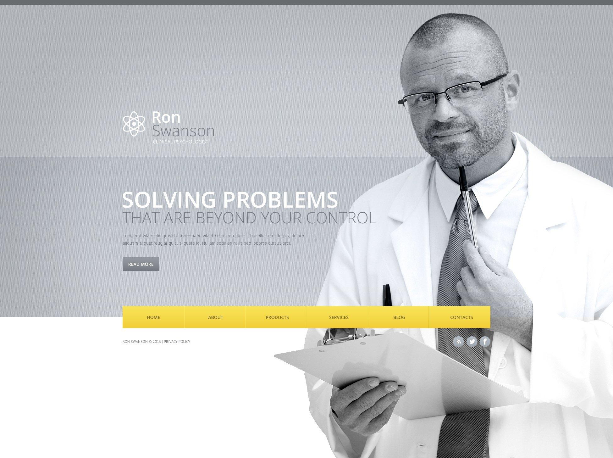 Bootstrap Pszichológus témakörű Weboldal sablon 45835