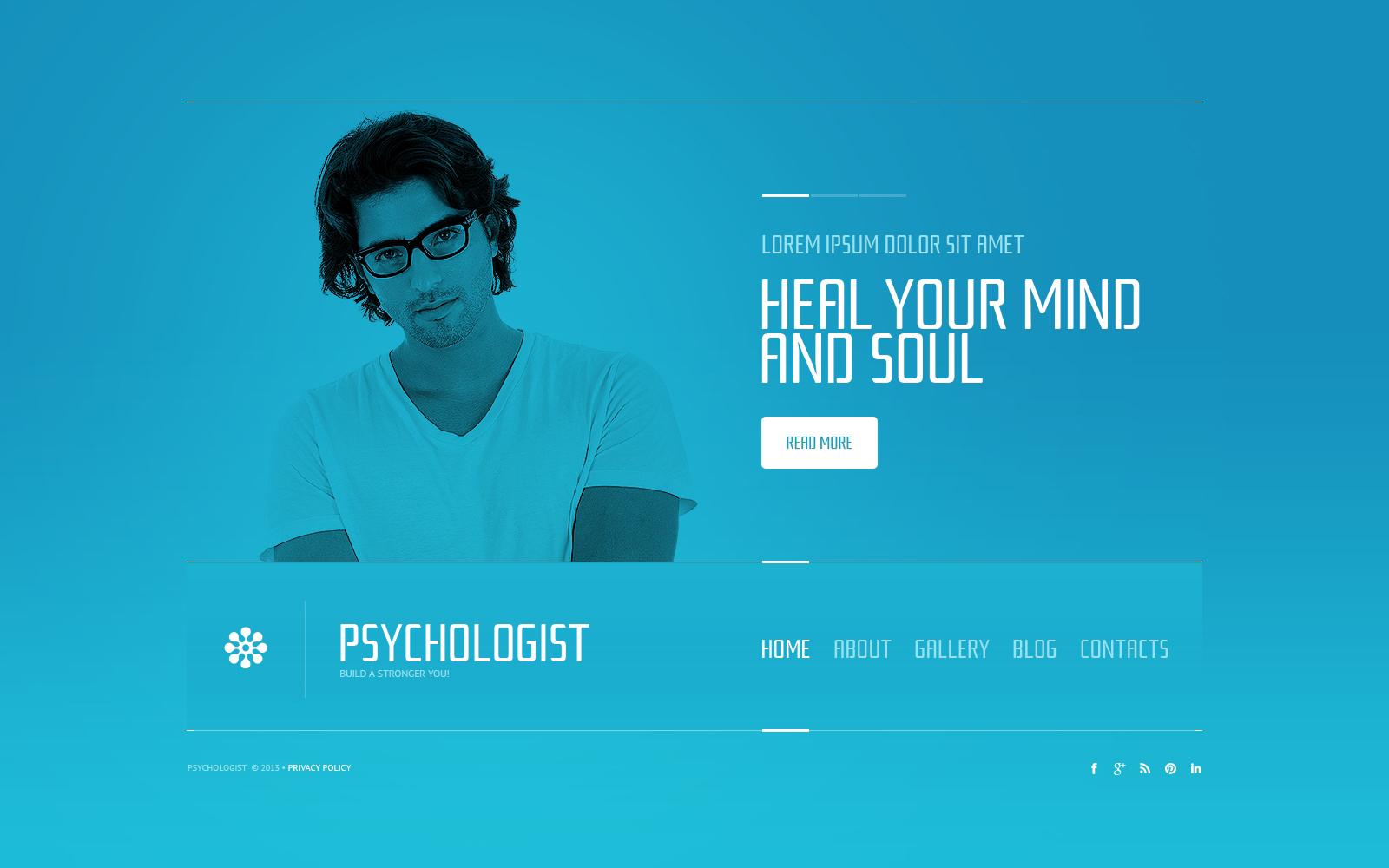 Bootstrap Pszichológus témakörű Weboldal sablon 45848