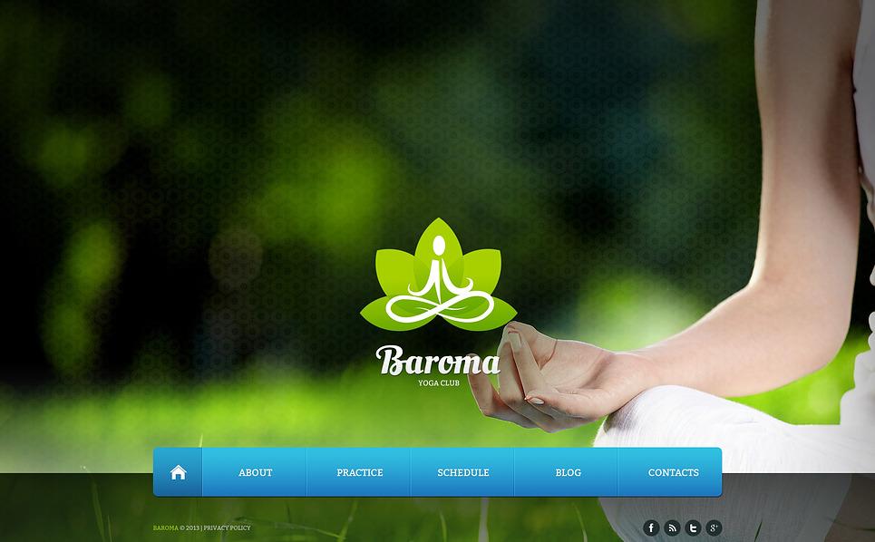 Bootstrap Website template over Yoga New Screenshots BIG